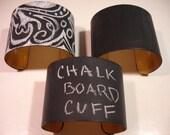 Chalkboard Bracelet with Chalkboard Gift Box Chalkboard Cuff