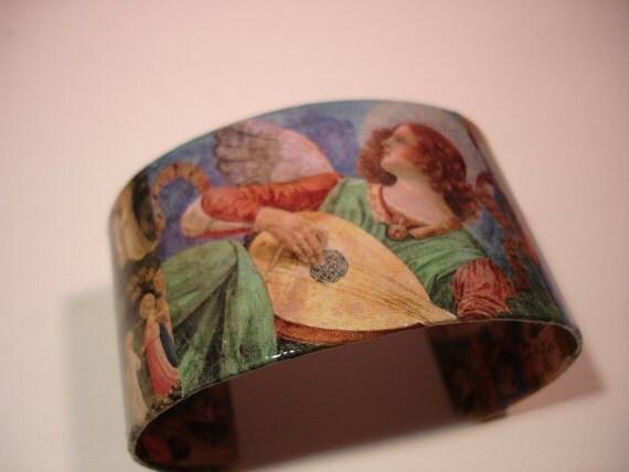 Angels Decoupage Cuff Bracelet