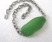 Sea-Glass Bracelet in Jade Green