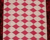 Vintage Japanese Kimono Silk Pink Diamond Patterns 60ins long