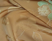 Vintage Japanese Kimono Silk Lovely Flowing Flowers, Berries and Leaves 60ins long