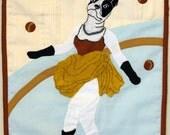 SALE- Lola juggling - Appliqued Portrait