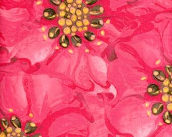 Free Spirit Tina Givens Treetop Fancy Raspberry Fabric