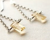 Leading Lady Statement Earrings. Citrine and Silver