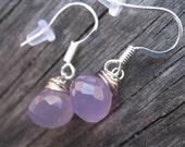 Lavender Pink Drop Earrings