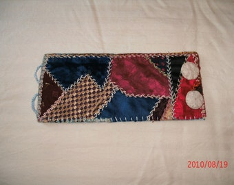 VINTAGE CRAZY Quilt CUFF Bracelet ooak gift for Mother's Day