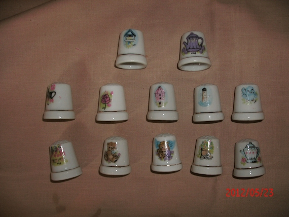LOT of VINTAGE THIMBLES  great collection Destash For Wendy