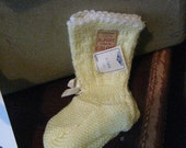 New with tags vintage baby socks, soft and sunshine yellow