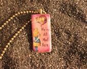 Alice In Wonderland Made To Order Small Domino Pendant Neckace