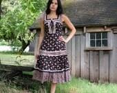 Vintage Prairie Boho Lace Corset Dress