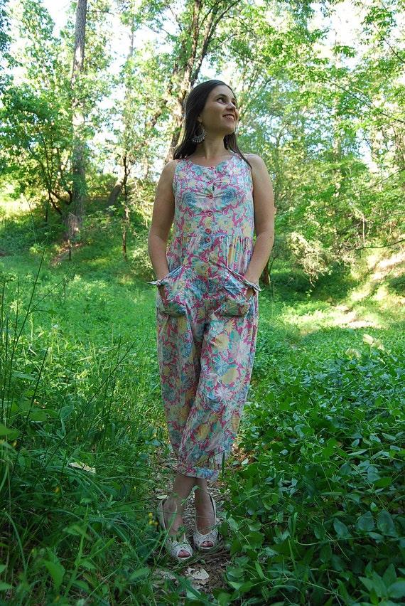 Vintage Laura Ashley Floral Romper