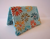 Card Holder - Aqua Daisies