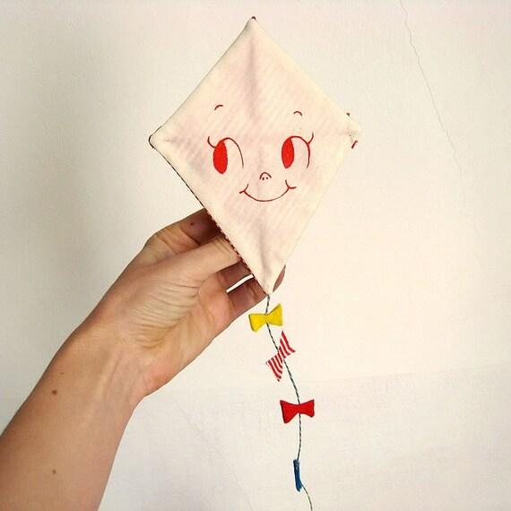 Valentine's greeting card. One-of-a-kind handmade Kite.