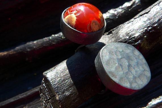 orange opal ring by Beijo Flor