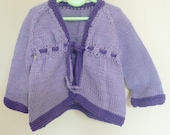 Knitting PATTERN Seamless Bottom Up BABY Cardigan Jacket - Anastasia - Instant DOWNLOAD
