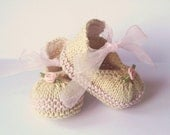 Baby Booties Knitting Pattern -  Posh Party Baby Shoes - 4 Sizes Newborn - 12 Mths