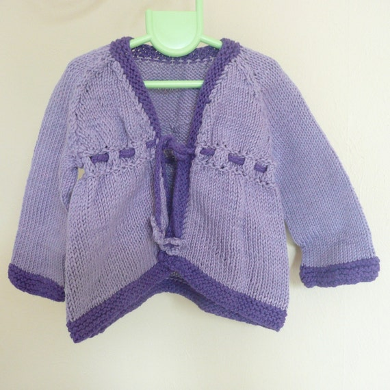 Knitting PATTERN Seamless Bottom Up BABY Cardigan Jacket - Anastasia - Instant DOWNLOAD