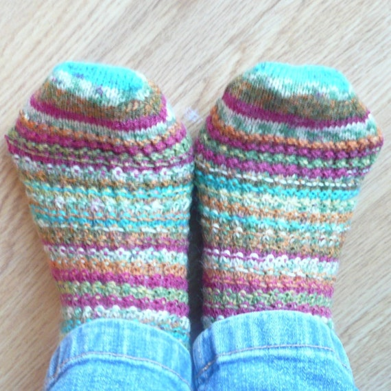Knitting Pattern For Socks In The Round : Knitting PATTERN Toe up Lacy SOCKS Instant DOWNLOAD