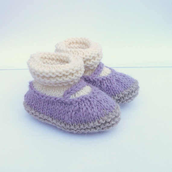 Knitting PATTERN BABY Booties All in One Baby Mary Jane by ceradka