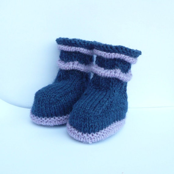 Sweaters Knitting Patterns : Knitting PATTERN BABY Booties Wavy Baby Boots INSTANT