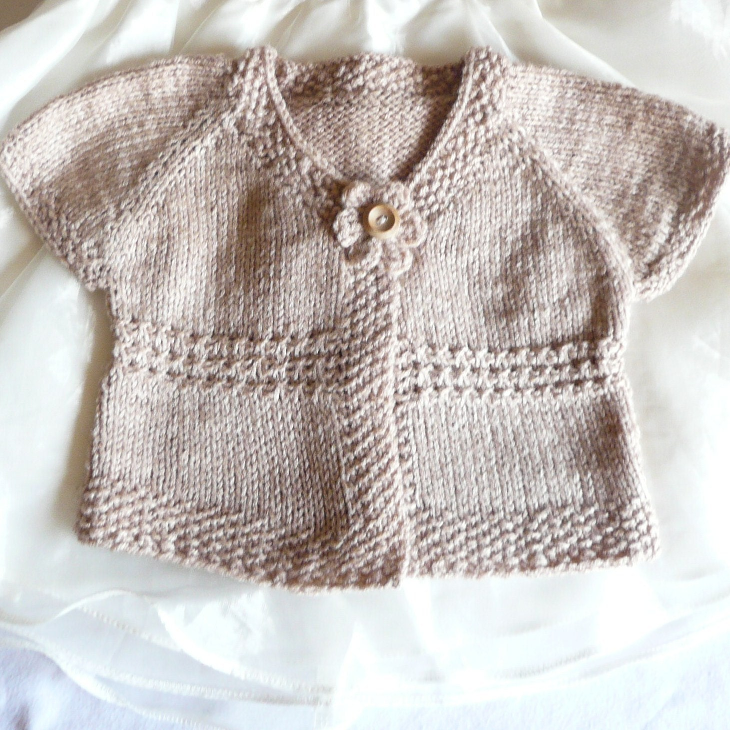 Knitting Patterns Baby Sweaters Top Down : Knitting Pattern Cardigan Sweater Emma a Seamless Top Down
