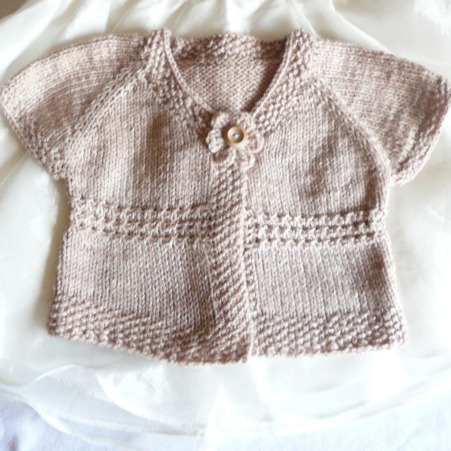 Top Down Toddler Sweater Knitting Pattern : Knitting Pattern Cardigan Sweater Emma a Seamless Top Down