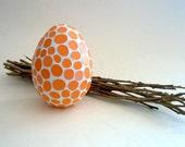 Orange mosaic egg