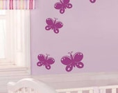 5 Butterflies Vinyl Wall Decal Vinyl Wall Decal Nursery baby room decor kids room Butterfly decal