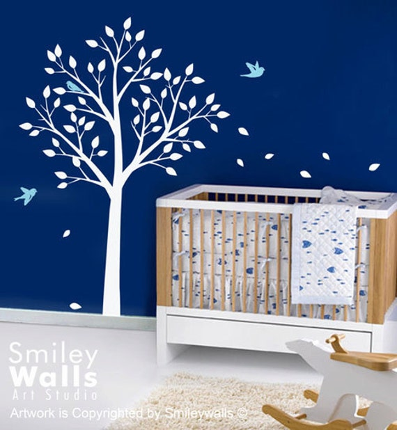Tree Wall Decal Birds Wall Decal  TODAY ON SALE Nursery Kids Room Decal Nursery decal baby decal room decor Tree decal birds