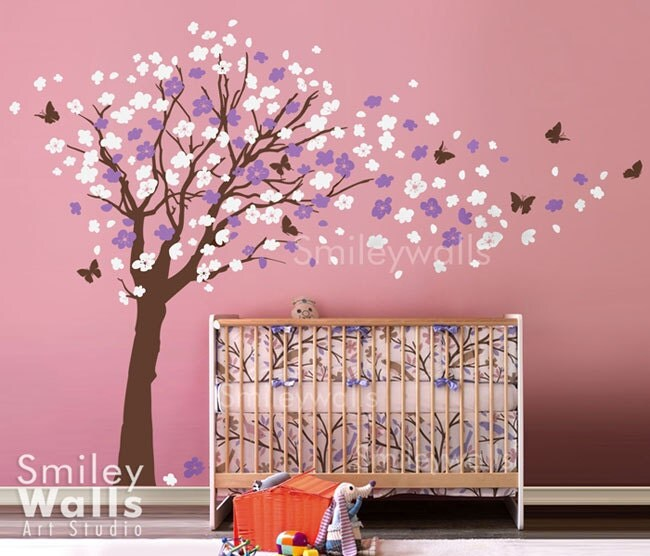 Cherry Blossom Tree Wall Decal Cherry Blossom Wall Decal - Custom vinyl wall decals cherry blossom tree