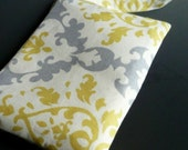 ceejaybags wristlet in cream, gray and yellow