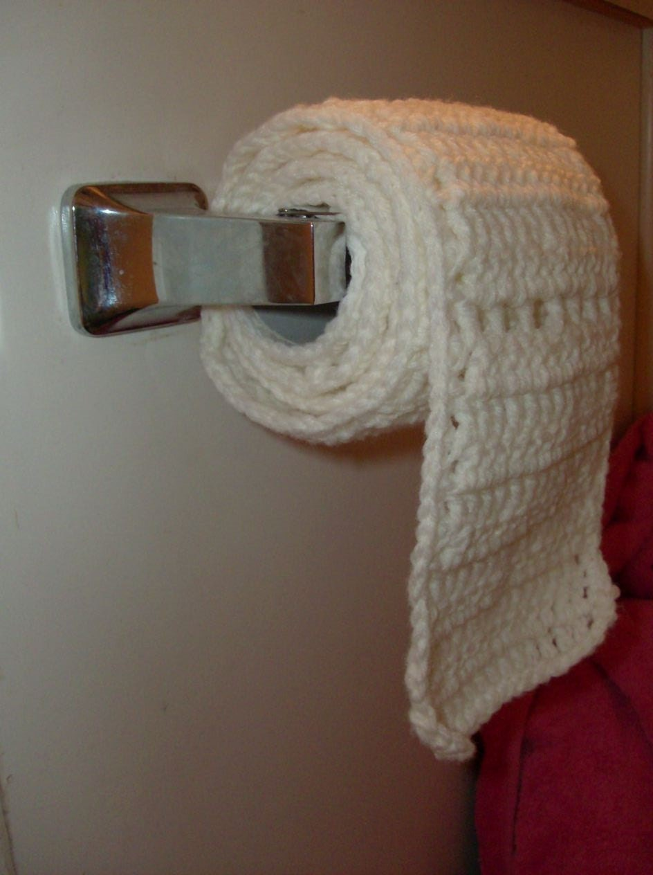 Crocheted Toilet Paper Scarf Fun Gift
