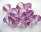 Beads, Swarovski, Austrian, Crystal,  10MM BI-Cones LILAC  10 Pc Lot