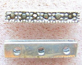 STERLING SILVER And MARCASITE Spacer Bar, 2,3,5,6 Strand, 2 Pieces