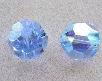 Bead, Focal, 18mm,Vintage, SWAROVSKI, Crystal,  LT. Sapphire AB, Art. 5000, Huge, Rare