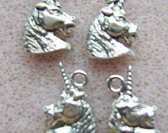CHARM, UNICORN, STERLING, Silver, Magical, Mystical, Medieval, Animal