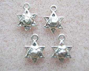 Sterling Silver STAR of DAVID Charm 8 Piece Lot