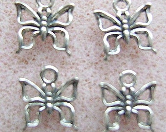 CHARM, Sterling Silver, BUTTERFLY, 15MM, Garden, Pendant ,Medium,, Insect, Animal, Extender, Chain