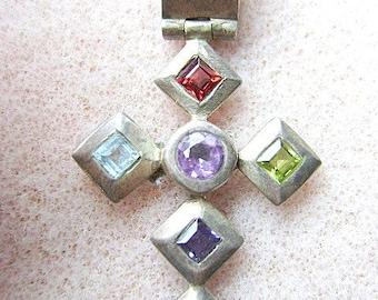 PENDANT, AMETHYST, IOLITE, Aquamarine, Garnet, Peridot, Pendant, Sterling, Silver