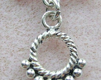 CLASP, STERLING, Silver, LARGE,  1 Strand,  Toggle, Closure