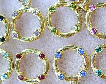 Swarovski Crystal, Toggle, Vermeil, 22k Gold, Sterling, Connector