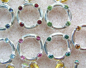 CLASP, TOGGLE, Swarovski, Sterling,Crystal, Connector, Bling, Bar, Ring