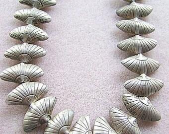 BEADS, Metal, Thai, Pure Silver ,FAN,  999 SILVER, 1 Bead