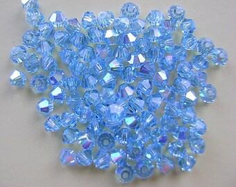 Beads,Swarovski, 3mm, Article 5301/5328, AQUAMARINE AB, Beads, Austrian, Crystal
