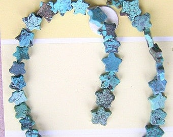 Beads,Turquoise ,Star,  Strand, Side Drill, Southwestern, Celestial, Mystic, Blue, matrix