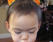 Flower Ponytail Holders (by the pair, toddler not included)