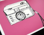 Sale - INSTAMATIC Camera 5x7 illustration Print