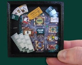 1\/12th Scale Board Game Shadow Box - Clue