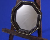 8-Sided Round Miniature Framed Mirror