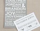 Bold Typography Wedding Invitation- DEPOSIT